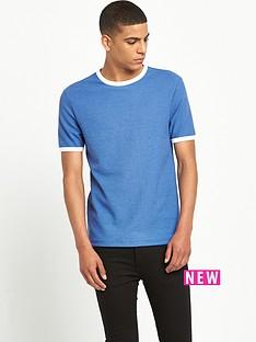 river-island-short-sleeved-waffle-textured-crew-neck-t-shirt
