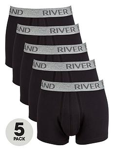 river-island-5-pack-plainnbsptrunks