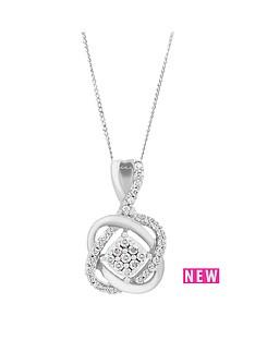 love-diamond-9ct-white-gold-25-point-diamond-infinity-crossover-pendant