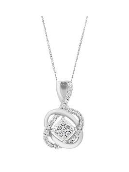 love-diamond-9ctnbspwhite-gold-25-point-diamond-infinity-crossover-pendant