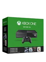 Name Your Game Bundle - 500Gb Console With Optional Extra Controller and 12 Month Xbox Live Subscription