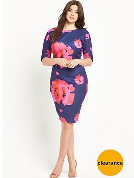 ax-paris-curve-floral-print-bodyconnbspdress