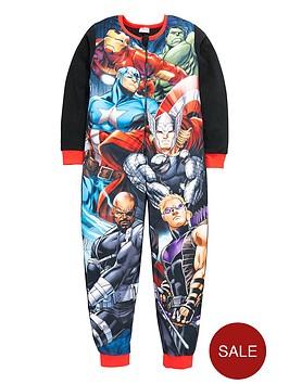 marvel-avengers-team-print-fleece-sleepsuit