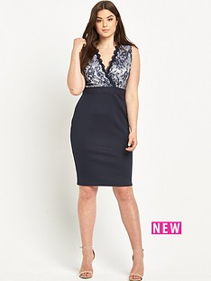 ax-paris-curve-lace-front-bodycon-dress