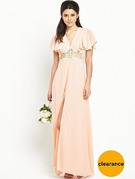 jarlo-edith-ruffle-sleeve-split-front-maxi-dress