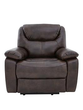 Parton Luxury Faux Leather Manual Recliner Armchair thumbnail