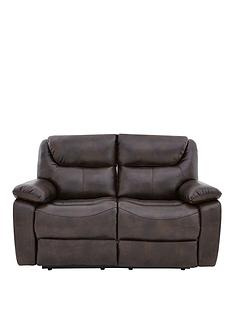 Parton Luxury Faux Leather 2 Seater Manual Recliner Sofa