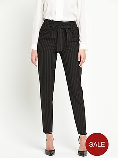 v-by-very-pinstripe-paper-bag-waist-trouser