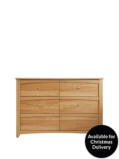 ExeterEasy Assembly 3 + 3 Drawer Chest