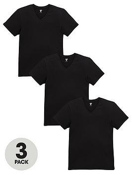 Photo of V by very stretch black t-shirts -3 pack-