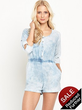 mink-pink-know-you-wannanbsproll-sleeve-playsuit