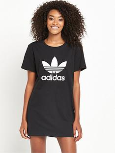 adidas-originals-trefoil-t-shirt-dress-black