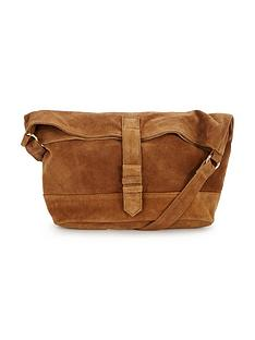 warehouse-suede-shoulder-bag