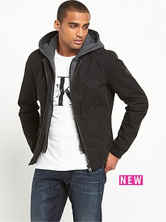 calvin-klein-hooded-mix-media-bomber-jacket
