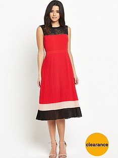 oasis-colourblock-pleated-dress