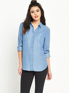 miss-selfridge-open-front-tencel-shirt