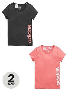 adidas-adidas-older-girls-pk-2-logo-tees