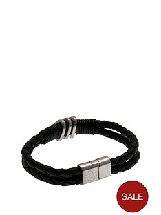 chelsea-stainless-steel-and-leather-crest-bracelet