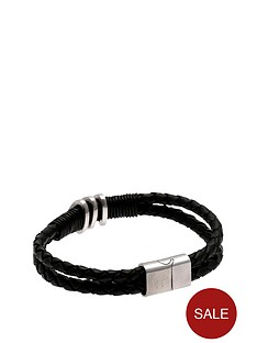 rangers-stainless-steel-and-leather-crest-bracelet