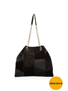 river-island-leather-patchwork-amp-chain-strap-bagnbsp