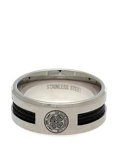 celtic-stainless-steel-black-inlay-crest-ring