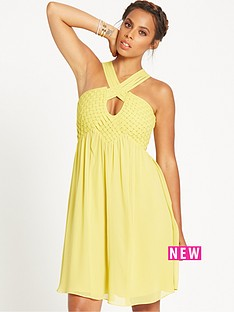 rochelle-humes-macrame-detail-dress-chartreuse
