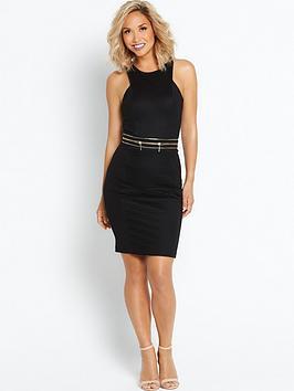 myleene-klass-zip-side-pencil-dress-black