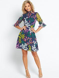 myleene-klass-volume-long-sleeve-printed-dress