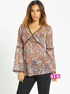 rochelle-humes-ladder-trim-paisley-print-blouse