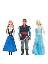 Fozen dolls, Anna, Elsa and Kristoff x3 pack set