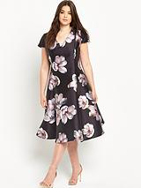 Midi Printed Prom Dress