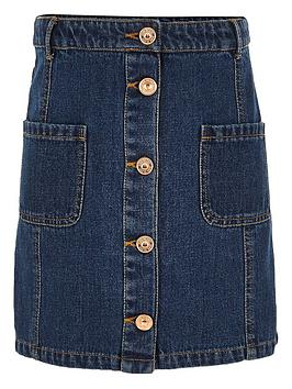 river-island-girls-pocket-denim-a-line-skirt
