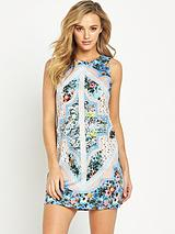 Patchwork Chintz Shift Dress