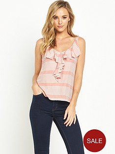 oasis-stripe-frill-cami-pink