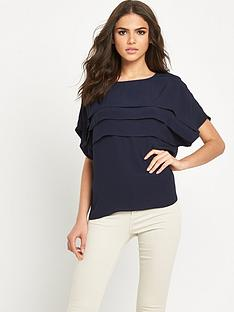 warehouse-pleated-ruffle-top