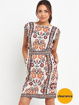 warehouse-latina-print-t-shirt-dressnbsp