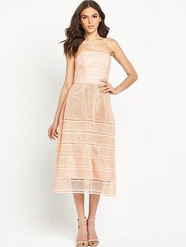 warehouse-mixed-lace-bandeau-dress