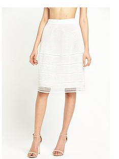 warehouse-geo-lace-skirt-white