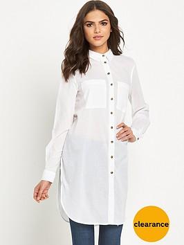 warehouse-plain-voile-longline-shirt