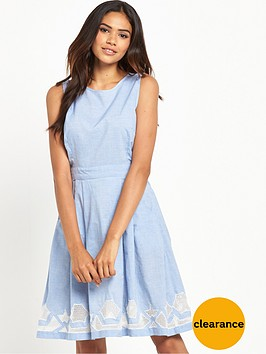 warehouse-chambray-cutwork-dress