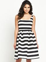 Stripe Prom Dress