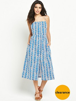 warehouse-blue-printed-cami-dress