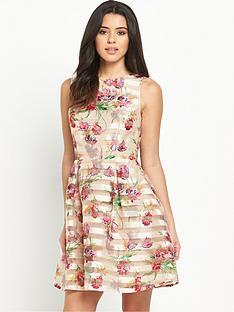 oasis-floral-organza-skater-dress