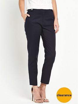 oasis-compact-cotton-trouser
