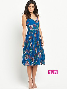 oasis-tropical-print-pleat-midi-dress