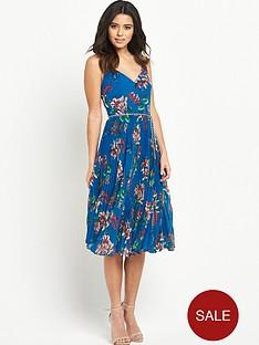 oasis-tropical-print-pleat-midi-dress