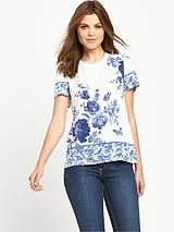 Placement Floral Grossgrain Tee