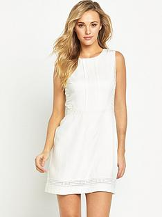 oasis-lace-trim-dress-white