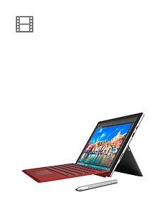 microsoft-surface-pro-4-intelreg-coretrade-i5-processor-4gb-ram-128gb-ssd-tablet-wi-fi-123-including-red-type-cover-and-optional-microsoft-office