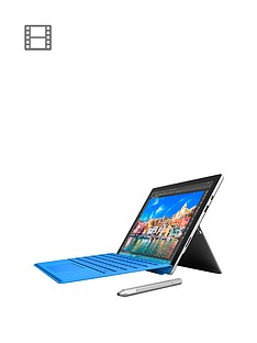 microsoft-surface-pro-4-intelreg-m3-processor-4gb-ram-128gb-solid-state-drive-wi-fi-123-inch-with-blue-type-cover-and-optional-microsoft-office-365